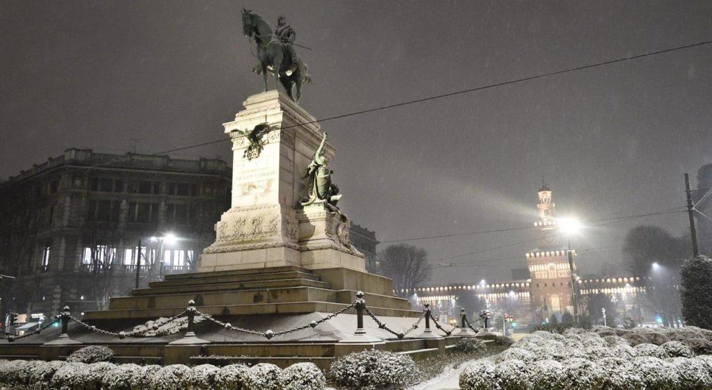 Milano sotto la neve