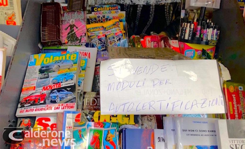"Lombardia ""autocertificazioni"" in vendita"