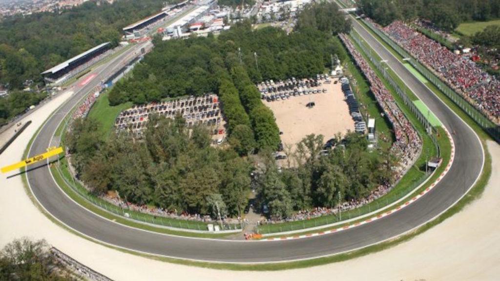 Circuito Autodromo Monza, vista dall'alto