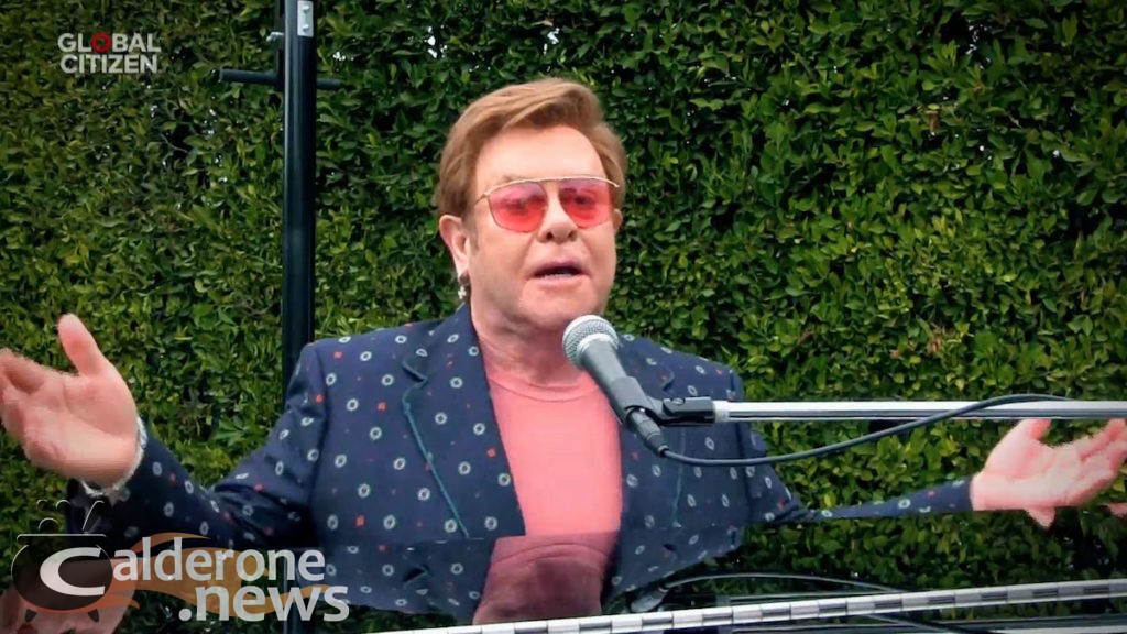 "UNSPECIFIED LOCATION - APRIL 18: In this screengrab, Sir Elton John performs during ""One World: Together At Home"" presented by Global Citizen on April, 18, 2020. The global broadcast and digital special was held to support frontline healthcare workers and the COVID-19 Solidarity Response Fund for the World Health Organization, powered by the UN Foundation. (Photo by Getty Images/Getty Images for Global Citizen )"