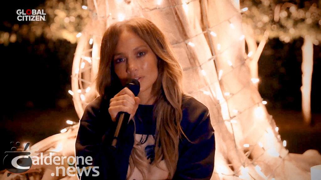 Jennifer Lopez in One World: Together at Home digital concert