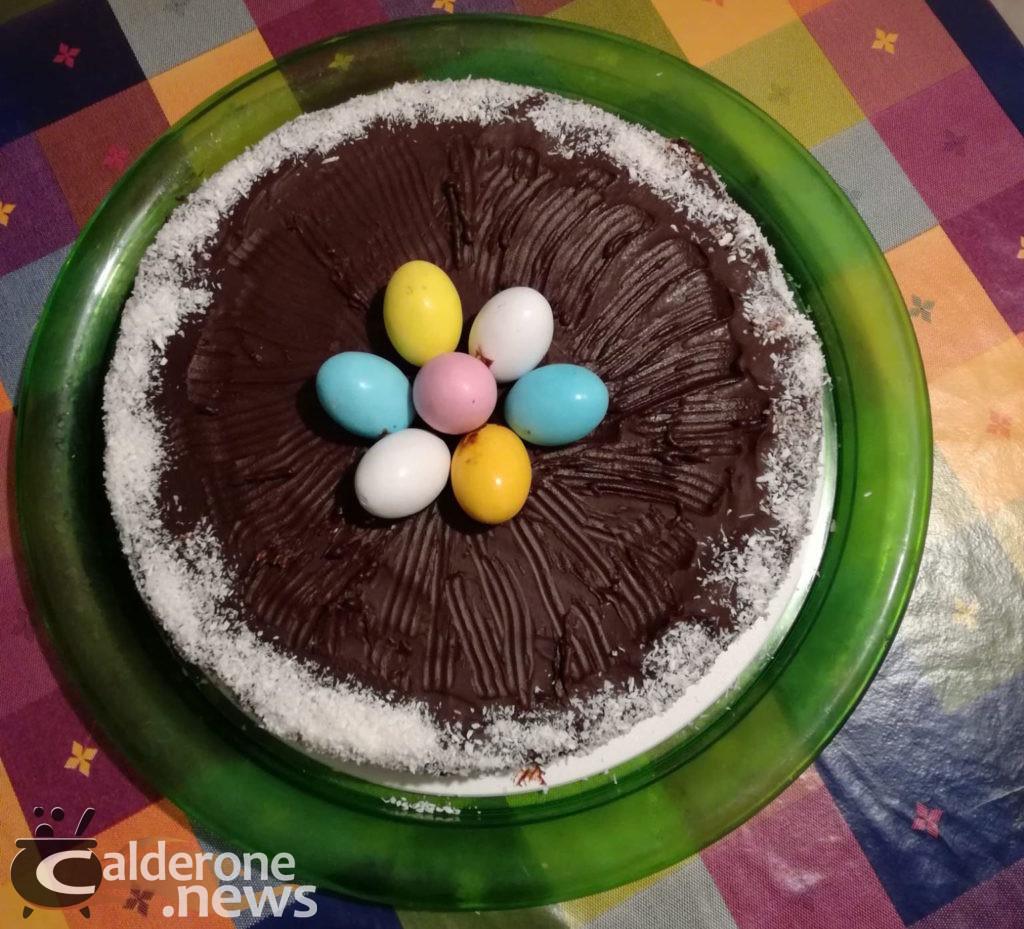 Torta di Pasqua al cocco e cioccolato