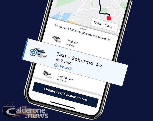 Smartphone con App prenotazione Taxi