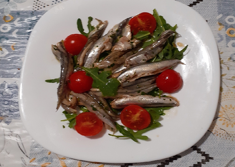 Alici marinate in salsa di soia