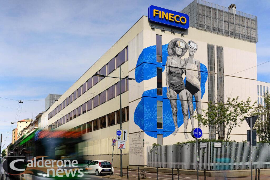 Street Art a Milano: Fineco ha messo a disposizione di Robico  uno spazio di 150 mq
